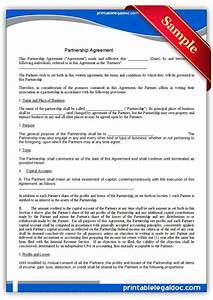 Free printable partnership agreement legal forms free for Legal business documents free