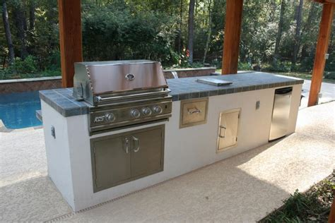 outdoor kitchen stucco outdoor kitchen from outdoor amenities pool co in spring tx 77387