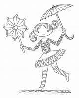 Circus Coloring Tightrope Acrobata Corda Funamboli Acrobate Walker Ragazza Della Acrobat Cammina Grazioso Che Drahtseil Ein Colorare Une Gehender Koord sketch template