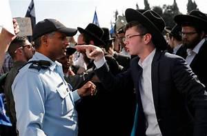 i24NEWS - Protest by hardline religious Jews shuts ...