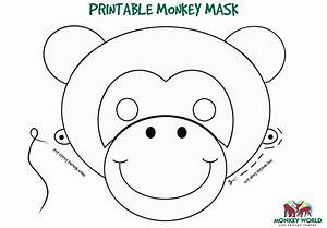 21 images of monkey face template printable bosnablogcom With monkey face template for cake