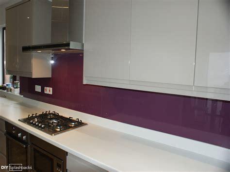 Kitchen Cupboard Design Ideas - pink and purple glass splashbacks