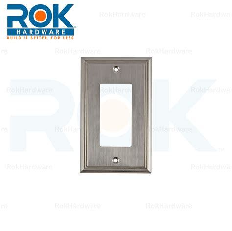 brushed nickel light switch wall light switch plate rocker toggle cover decorative