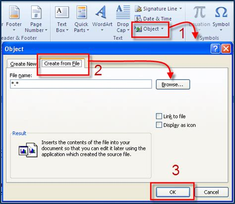 embed pdf in word embed a pdf document into microsoft word pc learning
