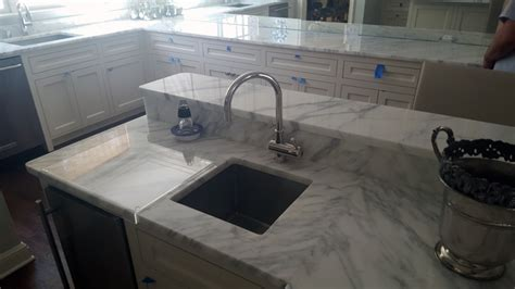 add white carrera marble countertops   kitchen