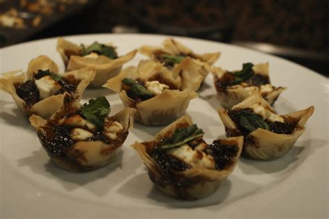 filo pastry cases canapes recipe testing for kimbell duck noodles and