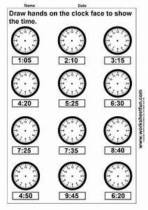 Clock Telling Time Worksheet Printable