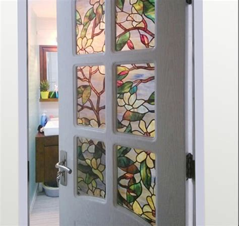 magnolia electrostatic printing stained glass film matte