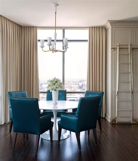 Peacock Blue Dining Chairs   Contemporary   Kitchen