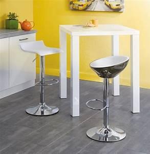 Table De Cuisine Haute : table blanche haute de cuisine conforama photo 7 10 ~ Dailycaller-alerts.com Idées de Décoration