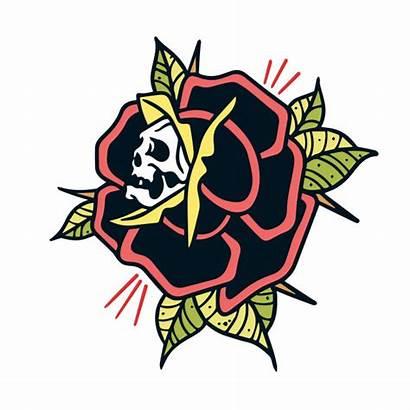 Rose Tattoo Rosa Premium Skull Tatuaggio Schedel
