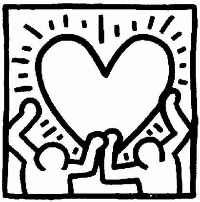 Coloring Pages Keith Haring Famous Paintings Heart