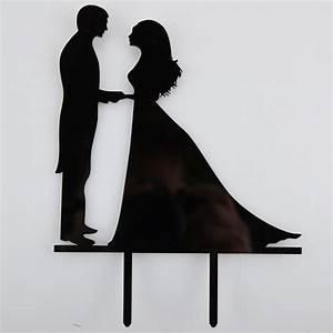 Married Couple Bride & Groom Acrylic Wedding Day Cake ...