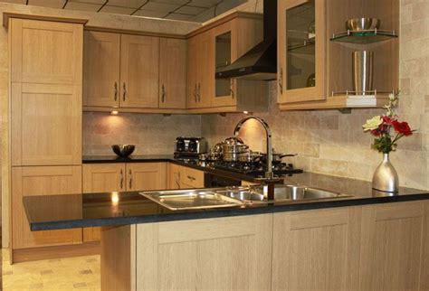 light oak kitchen units how to white wash pine shaker style cabinets yahoo image 7005