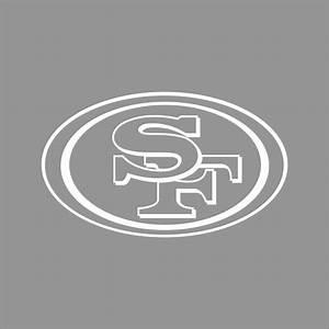 san francisco 49ers nfl team logo 1 color vinyl decal With vinyl lettering san francisco