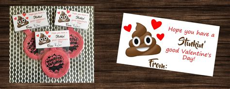 poop emoji whoopee cushion valentines printables  mom