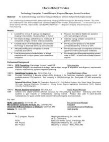 it project management resume objective senior project manager resume objective