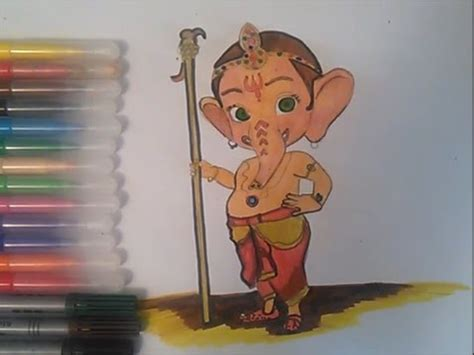 ganesha coloring pages  kids speed colouring bal ganesh youtube