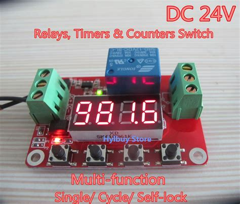 dc 24v multifunction self lock cycle plc timer relay module delay time switch ebay
