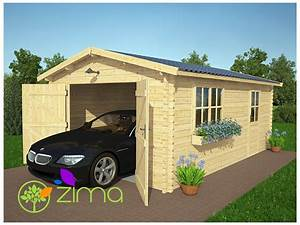 Garage En Bois 20m2 : garage en bois 24 m double vitrage ~ Dailycaller-alerts.com Idées de Décoration