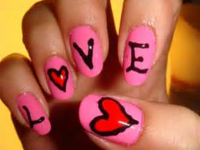 Nail art designs ideas for valentine s day heart nails