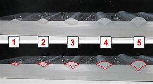 Penetration color of weld in steel