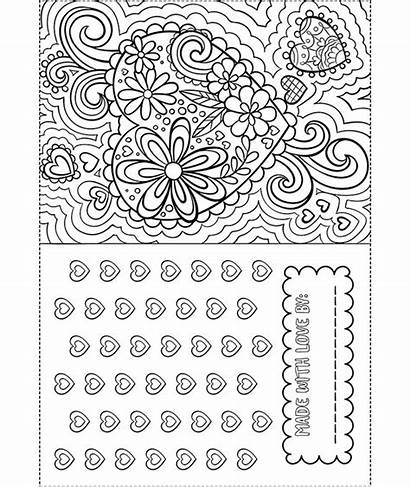 Coloring Valentine Card Crayola Pages Valentines Happy