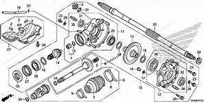 Honda Atv 2013 Oem Parts Diagram For Rear Final Gear