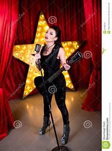 Woman Rock Star Stock Photo - Image: 53782676