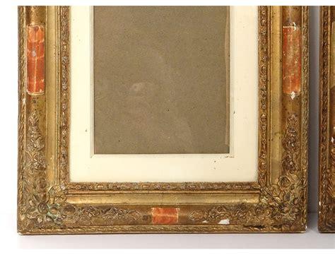 pair  wood frames stucco gilt antique french frame
