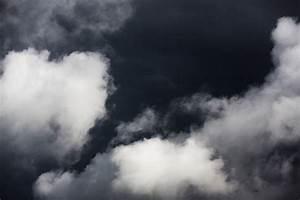 White Clouds On Dark Sky Free Stock Photo - Public Domain ...