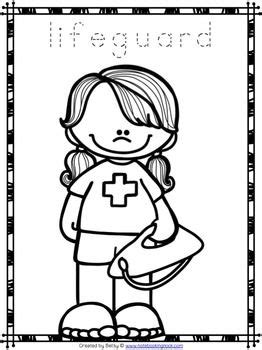 community helpers tracing  coloring pages community helpers theme coloring pages