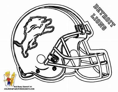 Coloring Helmet Nfl Football Helmets Drawing Colts