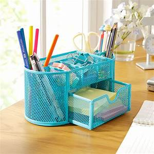 9, Grids, Metal, Mesh, Desk, Organizer, With, Drawer, Colorful, Student, Home, Office, New, Supplies, Desktop
