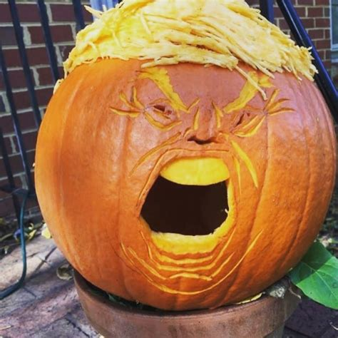 trumpkin carving pumpkins halloween trump donald donal