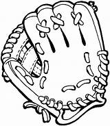Baseball Mitt Template Glove Clipart Coloring Pages Templates sketch template