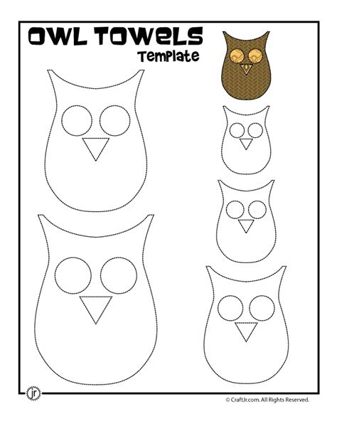 fall kitchen crafts owl towels printable owl template