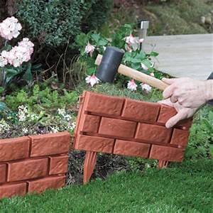 Brick Effect Garden Edging (Pack of 4) Daily Express
