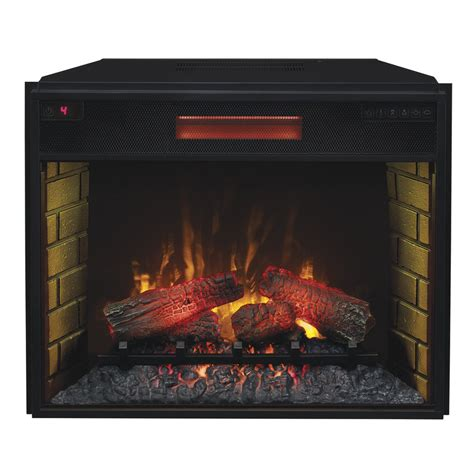 lowes electric fireplace insert shop 29 13 in black electric fireplace insert at lowes