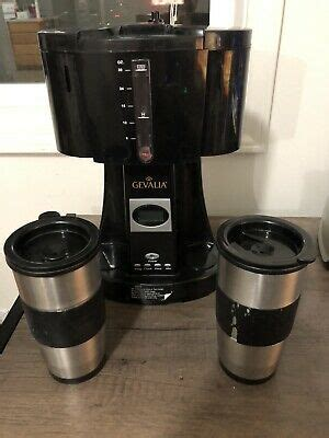 Pick up all your favourite with this fantastic offer: Gevalia Programmable Coffee Maker For Two W/ Stainless Steel Travel Mugs WS-02AT | eBay