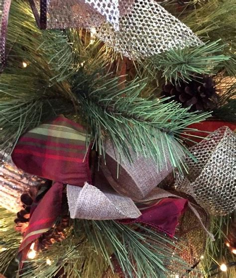 how to decorate a christmas tree with ribbon hometalk
