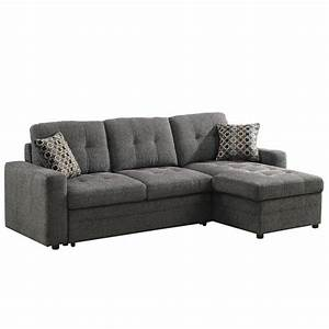 Coaster, Gus, Chaise, Sectional, Storage, Sofa, With, Pull, Out, Sleeper