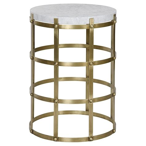 antique brass side table antonia modern antique brass metal cage round side table