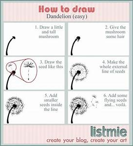 How to draw: dandelion | Art Tutorial | Pinterest | Flower ...