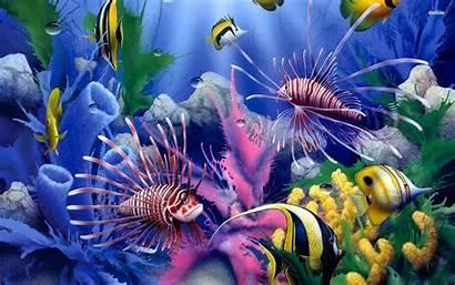 Wallpapers Fish Ocean Sea Fishing Deep 3d