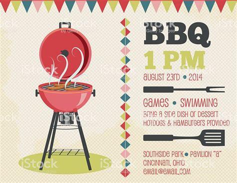 bbq invitation template retro bbq invitation template stock vector more images of barbecue 494418255 istock