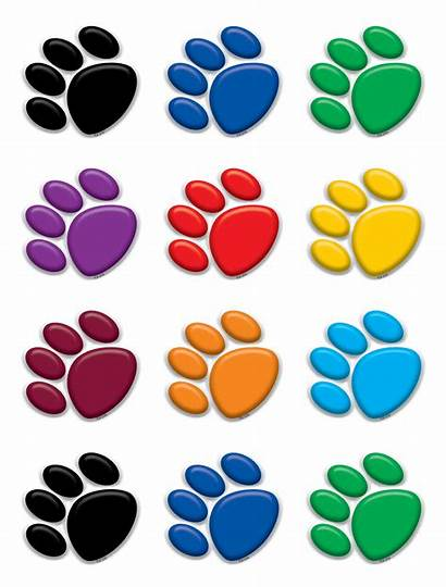 Paw Prints Colorful Teachercreated Accents