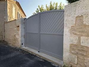 Installateur De Portail Motorisé : pose d 39 un portail battant motoris en aluminium du mod le sirtaki brie 16 ~ Farleysfitness.com Idées de Décoration