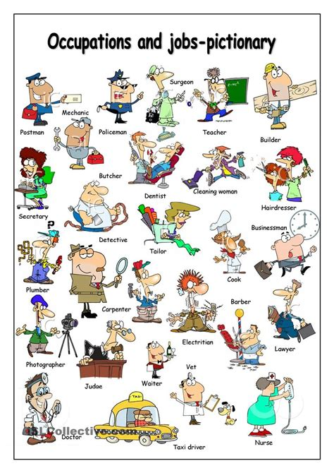 occupations pictionary english vocabulary learn english