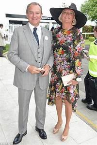 Hugh Bonneville joins wife Lucinda 'Lulu' Evans at Epsom ...